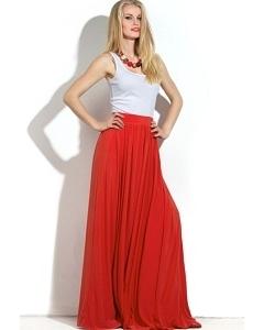 Длинная юбка из тонкого трикотажа Donna Saggia DSU-22-3t