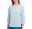 Женская блузка из фактурной ткани мятного цвета Emka B2204/saffa