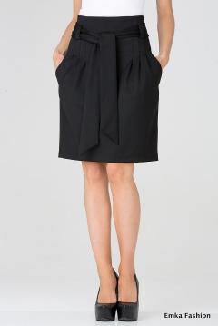 Стильная черная юбка Emka Fashion 421-rumina