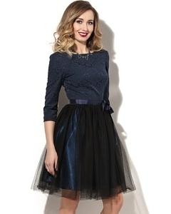 Платье-пачка чёрного цвета Donna Saggia DSP-182-6