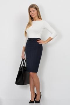 Юбка чёрно-синяя Emka Fashion 202-60/laura