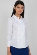 Белая блузка рубашечного кроя Emka Fashion b 2103/dulma