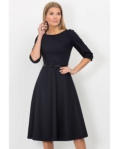 Тёмно-синее платье Emka Fashion PL-407/evlampiya
