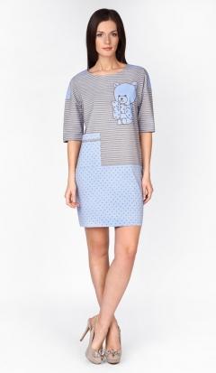 Домашнее платье голубого цвета | 1285-50