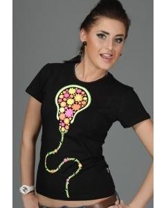 Женская футболка Flower Power (Светится в ультрафиолете)
