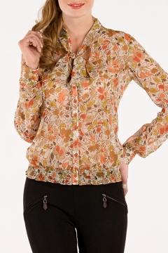 Цветочная блузка из шифона