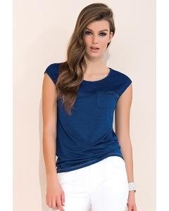 Польская летняя блузка синего цвета Zaps Lonnie