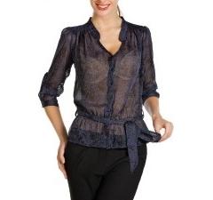 Полупрозрачная блузка из шифона | Б795-1325