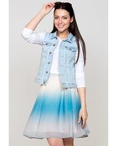 Летняя юбка Emka Fashion 322-aprika