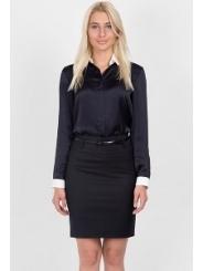 Тёмно-синяя офисная юбка Emka Fashion 202-50/zemfira