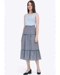 Лёгкая летняя юбка из вискозы Emka S774/bianka