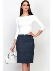 Синяя юбка в белую крапинку Emka Fashion 336-klarisa