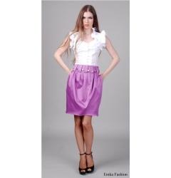 Яркая миди-юбка цвета фуксии