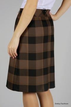 Клетчатая юбка Emka Fashion | 265-aleksa