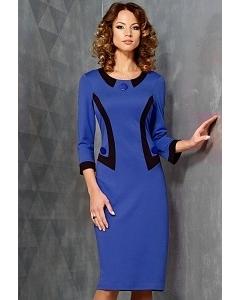 Синее платье TopDesign B3 136