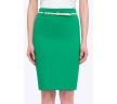 Весенняя юбка нежно-травяного оттенка Emka S202-60/sabina