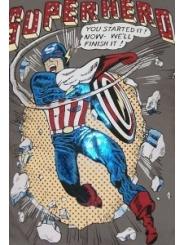 Мужская футболка со стразами SUPERHERO