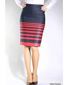 Черно-красная юбка-карандаш | 264-valencia