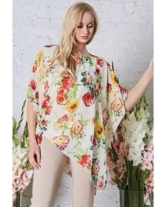 Тонкая летняя блузка свободного кроя TopDesign Premium PA8 47