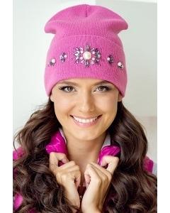 Красивая шапка со стразами Landre Вита