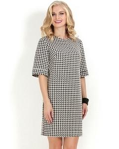 Платье с узором гусиные лапки Donna Saggia DSP-161-11t