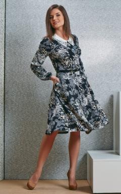 Платье с белым воротничком TopDesign B4 058
