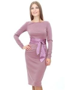 Платье-футляр из ткани джерси
