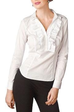 Офисна блузка с жабо Golub   Б661-724