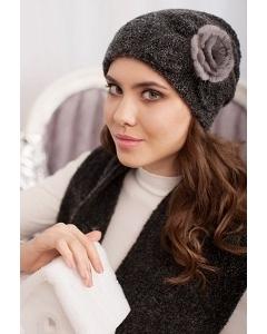 Комплект (шапка и шарф) чёрного цвета Landre Моника
