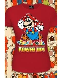 Женская футболка Марио (Светится в темноте и ультрафиолете)