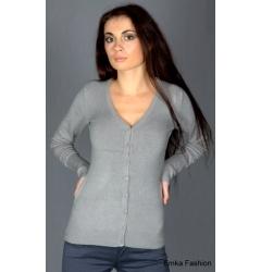 Светло-серая женская кофта Yiky Fashion