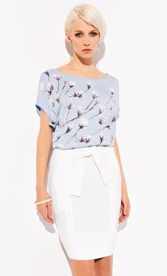 Голубая блузка с принтом Zaps Rebeka