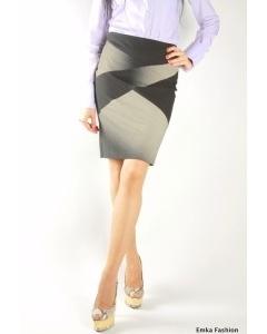 Контрастная черно-белая юбка