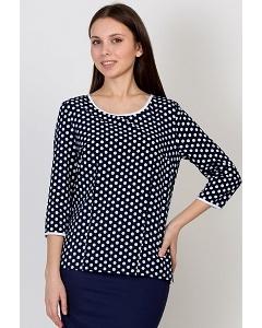 Тёмно-синяя юбка в белый горох Emka Fashion b 2134/lady