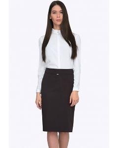 Тёмно-коричневая офисная юбка Emka S369/marione
