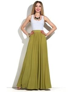 Длинная трикотажная юбка Donna Saggia DSU-22-83t
