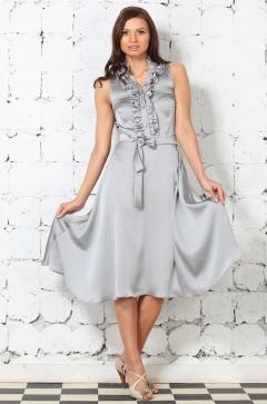 Серебристое платье российского производства