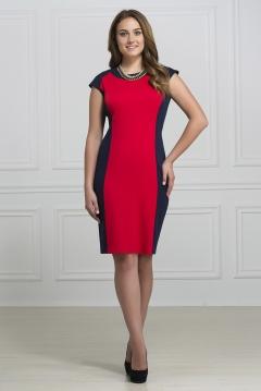 Красно-синее платье Rosa Blanco 3009