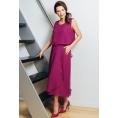 Летнее платье с эффектом юбки и топа TopDesign A7 083
