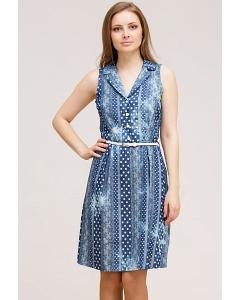 Летнее платье с рубашечным воротником Remix 7092