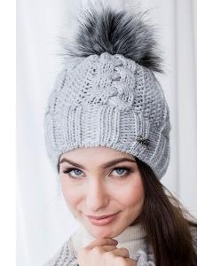 Женская шапка с помпоном Veilo 30.91Р