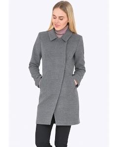 Женское пальто серого цвета Emka R-022/lilya