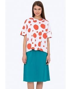 Бирюзовая летняя юбка из вискозы Emka 705/laola