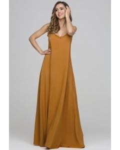 Длинный сарафан бронзового цвета Donna Saggia DSP-328-45