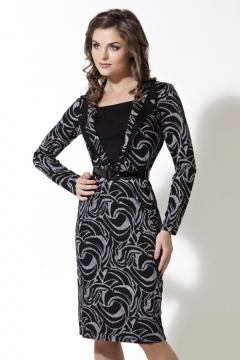 Черно-серое платье TopDesign   B2 059