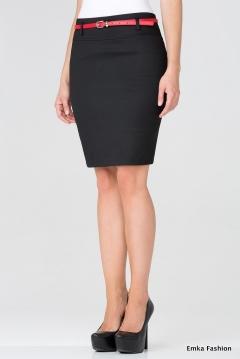 Короткая черная юбка Emka Fashion 202-nicole