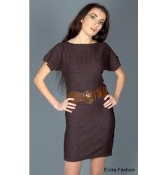 Стильное коричневое платье