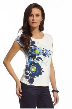 Трикотажная блузка с коротким рукавом Enny 210011