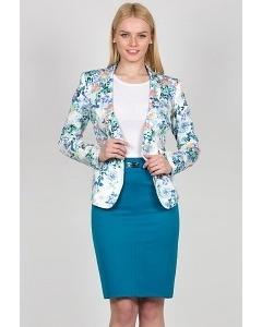 Юбка голубого цвета Emka Fashion 442-scarlet