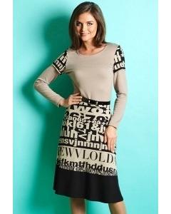 Осенне платье TopDesign B5 012